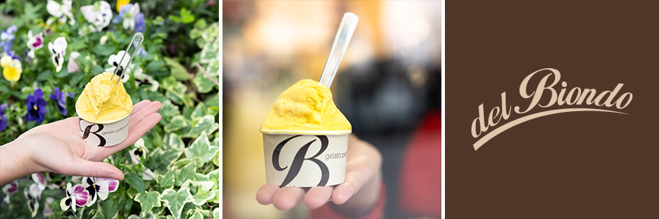 Gelateria Del Biondo: gelato allo zafferano l'oro di navelli